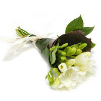 white hand bouquet