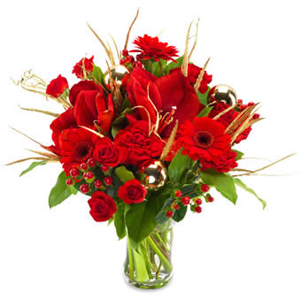 Red Christmas Bouquet - Florist Design