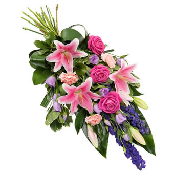 Funeral Sheaf in Pink and Purple
