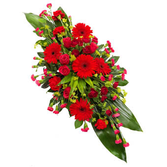 Red and Cerise Funeral Spray
