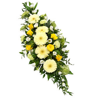 Funeral spray in soft colours