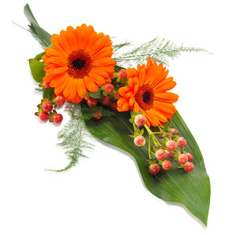 Hand bouquet in orange colours