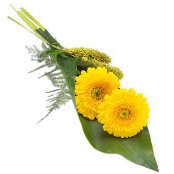 Hand bouquet in yellow colours
