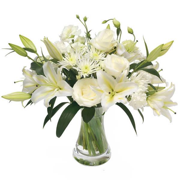 Florist design - White condolence bouquet