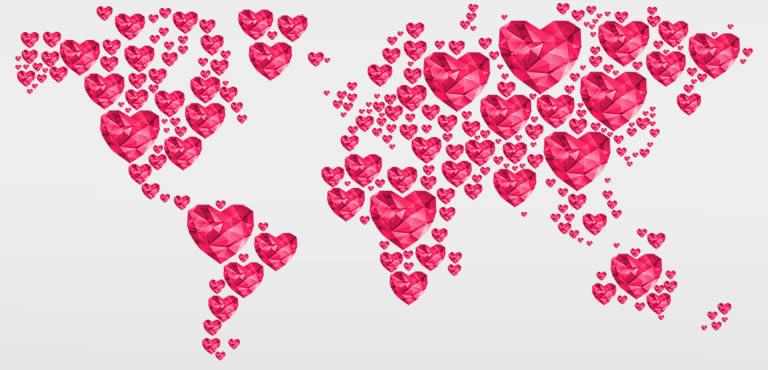 Alla hjärtans dag historia - Fira kärleken och Sankt Valentine