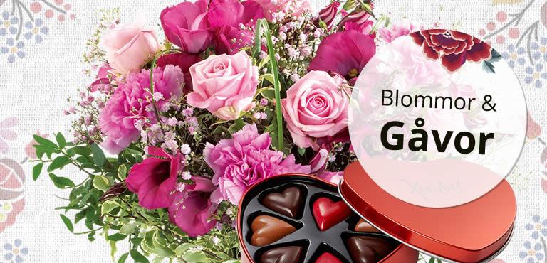 Skicka blommor och choklad